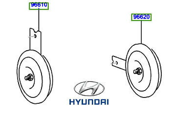 Genuine Hyundai Terracan Horn - 96650H1000