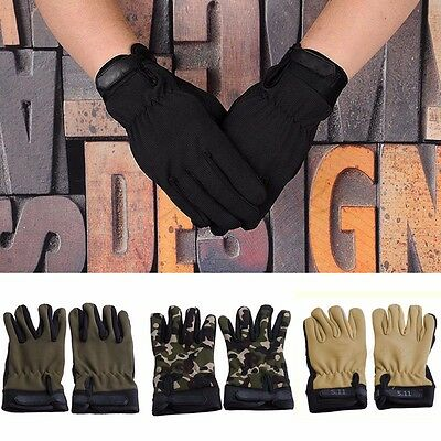 Outdoor Bike Gloves Motorcycle Tactical Airsoft Hunting Full Finger Gloves New