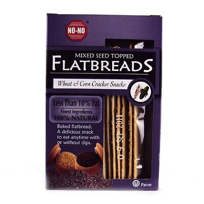 No-No Flatbreads - Mixed Seed 130g (Pack of 12)