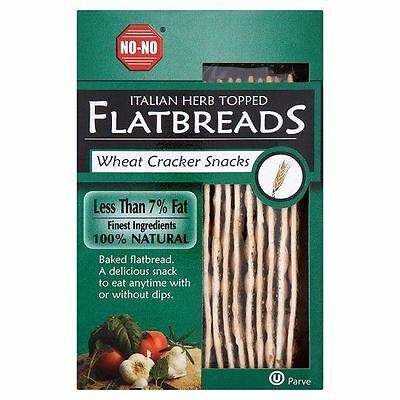 No-No Flatbreads - Italian Herb 130g (Pack of 12)