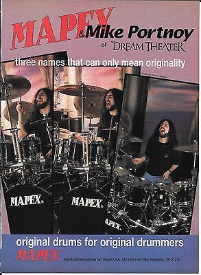 MAPEX Drums - Mike Portnoy of Dream Theater - 1995 Print Advertisement