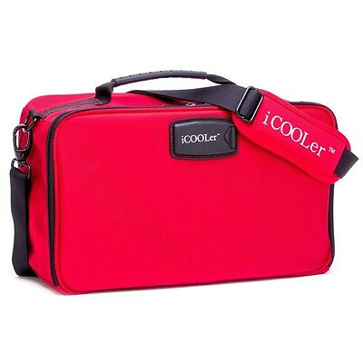 NEW iCOOLer Large Red Lunch and Beverage Cooler Bag