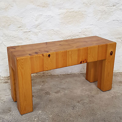 Block Pine Kitchen or Hallway Bench by Pine & Moss of London (Modern Chunky)