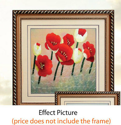 ORIENTAL SILK SQUARE FOR FRAMING Picture Handmade Best Gift Present-