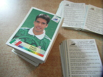 PANINI STICKERS FOOTBALL WORLD CUP FRANCE 98 1998  complete your collection