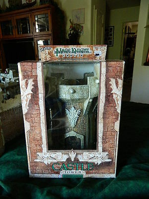 Mage Knight Castle, Tower. NEW in box D&D minis RPG terrain pathfinder Warhammer