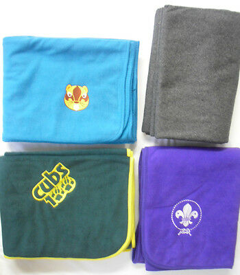 Scouts Official Badge Blanket Beavers Cubs 2016 World Scouts Purple Blue Yellow