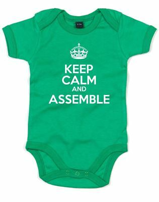 Keep Calm And Assemble, Printed Baby Grow