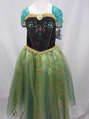 Disney Store Frozen Anna Coronation Gown Dress Girls Deluxe Costume 7/8