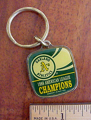 1988 Oakland A's American League Champions Wincraft Licensed MLB Keychain