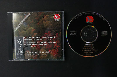 CD: Edvard Grieg Music for Strings The Trondheim Soloists Fiskum 92 Victoria