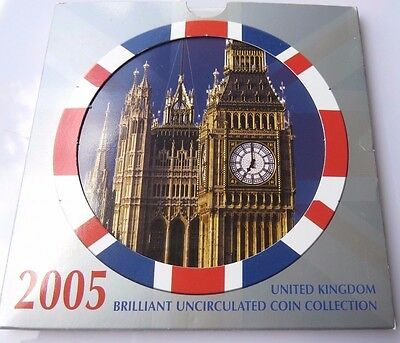 Great-Britain 2005 Mint Set of 10 Coins in Original Packaging