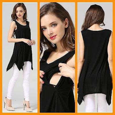 Sale New Maternity Nursing Breastfeeding Waterfall Top Size 8 10 12 14 16