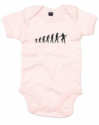 The evolution of fencing, Printed Baby Grow
