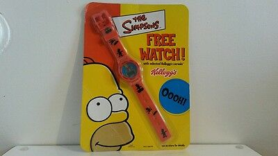 Limited Edition The Simpsons Digital Watch With Lenticular Face - Orange / Red