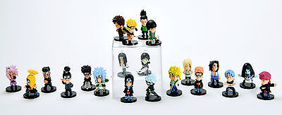 "Naruto Shippuden Pedia Heroes 21 pcs Toy Mini Figure Doll 2"" All Characters New"
