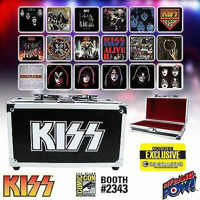 KISS Album Cover Coaster Set in Miniature Guitar Case - Limited Edition