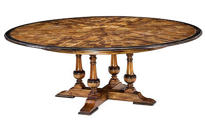 Large round to round dining jupe table | walnut table with hidden leaves