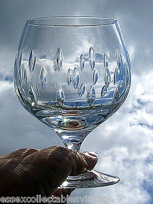 Galway Irish Crystal Raindrops Brandy Glass Etched Base 3407410 Excellent RARE