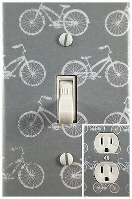 Vintage Bicycle Single Toggle Decorative Light Switch Cover Outlet Switch Plate