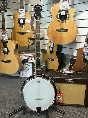 Bryden 5 String Banjo with Remo Head - Great Student Banjo - Includes Tuner