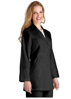 "NWT Adar Universal 32"" Women's Perfection Labcoat Black XXS FREE SHIPPING"