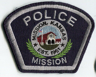 Mission Kansas Police Patch // OLD STYLE - USED