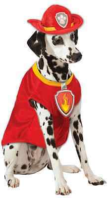 Marshall Paw Patrol Firefighter Rescue Fancy Dress Halloween Pet Dog Cat Costume