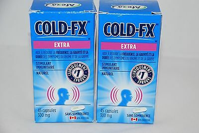 Cold-FX Extra Strength (45x2) = 90 Capsules 300mg Non Drowsy Natural Anti-Body