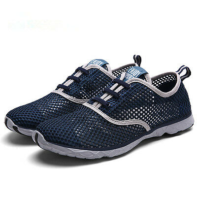 Breathable Men's Lacing Up  Mesh Quick Drying Aqua Water Shoes Casual Sneaker
