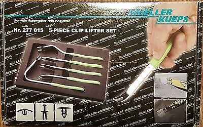 Mueller Kueps 5 piece Clip Lifter Tool Set for Plastic Clips & Fasteners #277015