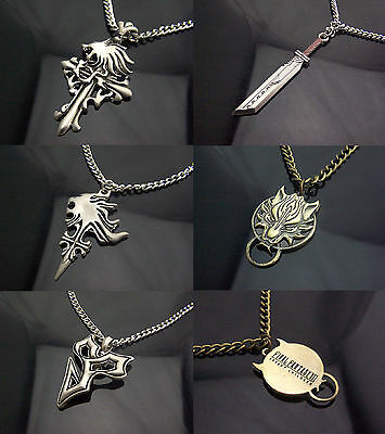 Final Fantasy Accessory Keychain Necklace Pendant Cloud+Tidus Cosplay Amulet New