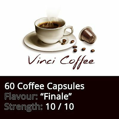 60 x Nespresso Compatible Coffee Capsules Top Strength FINALE Coffee Capsules