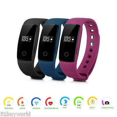 Heart Rate Smart Bracelet Sports Healthy Wrist Band Pedometer Fitness Tracker UK