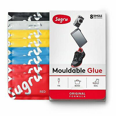Sugru Mouldable Glue - It turns into rubber‎ - 8 Pack [Colours]