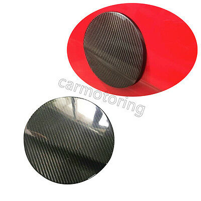 Carbon Fiber Car Side Gas Oil Fuel Tank Cover Trim Cap Fit for Ford Mustang 2015
