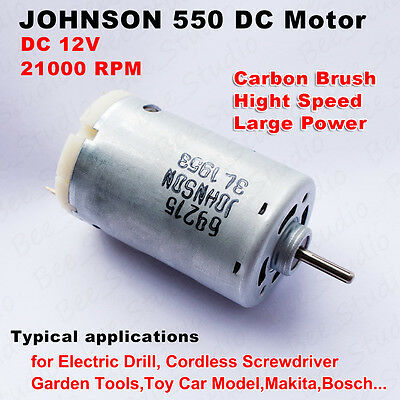 DC 12V 21000RPM High Speed Large Power JOHNSON 550 Motor for Electric Tools DIY