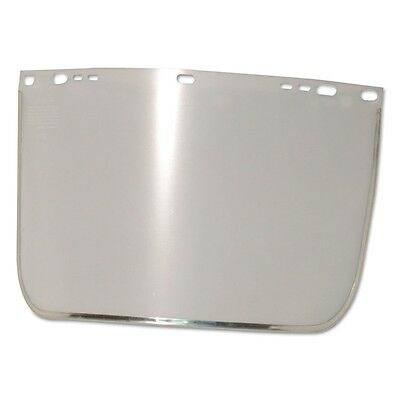 Face Shield Visor, 15 1/2'' x 9'', Clear, Bound, Plastic/Aluminum - ANR 3440-B-C