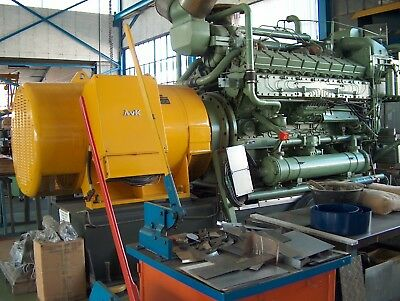 1 SACM Wartsila Group Engine Diesel AGO 195 Generator