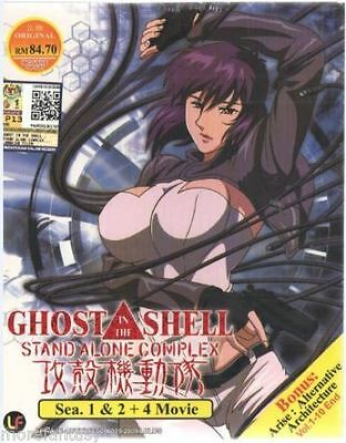 DVD ANIME GHOST IN THE SHELL Stand Alone Complex Season 1-2 + 4 Movie
