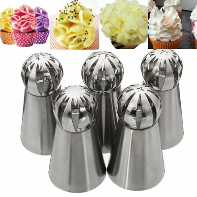 Icing Piping Nozzles Pastry Tips Fondant Cup Cake Decor Baking Buttercream Tool