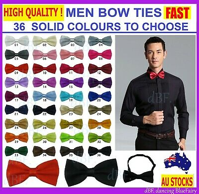Man Men Bow Ties Bow Tie Pretied Tuxedo Adjustable Plain Color Party Formal Work