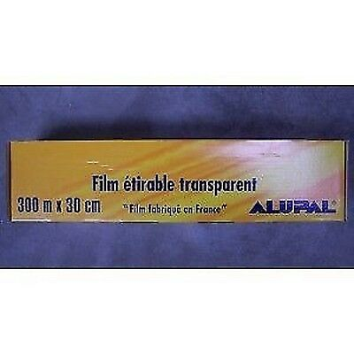 FILM ETIRABLE TRANSPARENT alimentaire 300 mtr largeur 45 cm fabrication FRANCE
