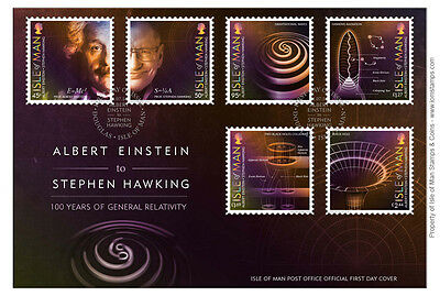 Einstein & Hawking 100 Years of General Relativity First Day Cover (UK91)