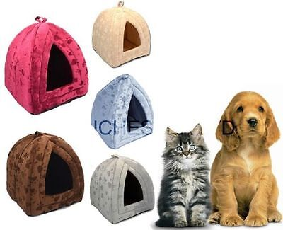 Dog Cat Warm Fleece Winter Bed Igloo House Soft Luxury Basket For Pets