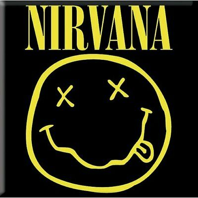 Official NIRVANA Smiley Fridge Magnet Kurt Cobain Dave Grohl