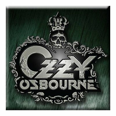 Official OZZY OSBOURNE Crest Logo Fridge Magnet Black Sabbath