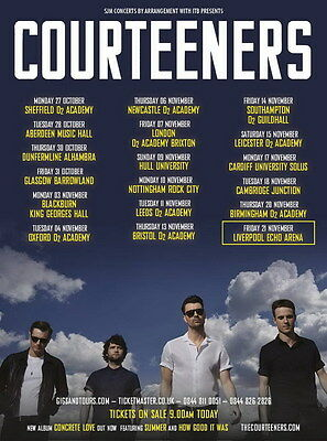 "MX06769 The Courteeners - English Indie Rock Band Liam Fray Music 14""x19"" Poster"
