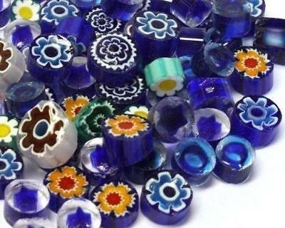 Millefiori Mosaic Tiles - Greek Blue Mix