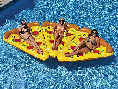 Pizza Slice Inflatable Float Fun Beach Lounger Swimming Pool Air Tubes Water Toy